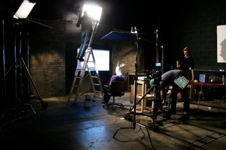 30 March 2011, Filming in Picture This Atelier for current commission with Maryam Jafri, Avalon